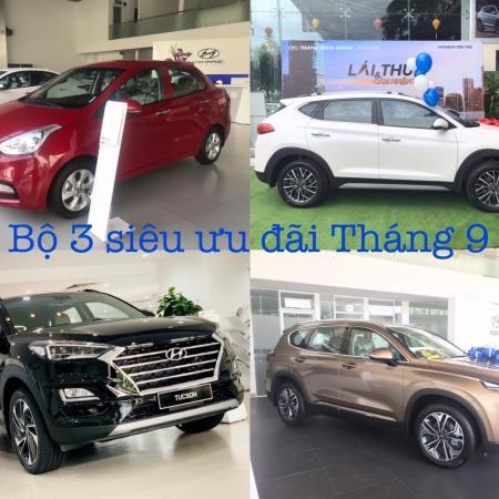 Hàng loạt xe Hyundai giá ưu đãi cực tốt tháng 9