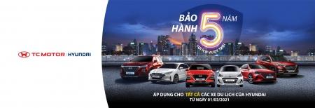 Khách hàng Việt được tăng thời gian bảo hành xe Hyundai từ 3 lên 5 năm